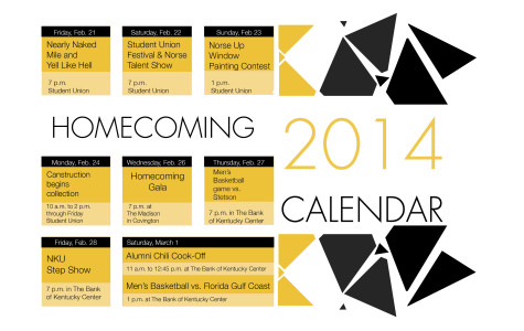 2014 Homecoming Calendar
