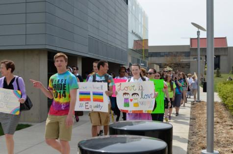 Pride marches through campus