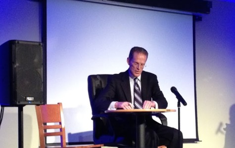 President Mearns crashes the party at student comedy night