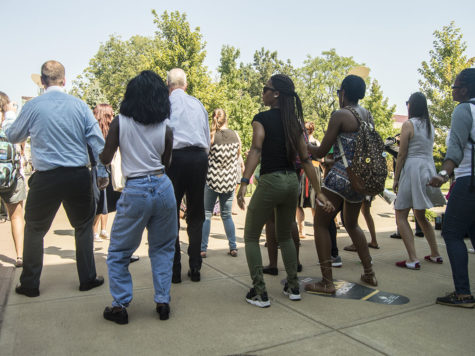 GALLERY: VP of Student Affairs joins students in dance party