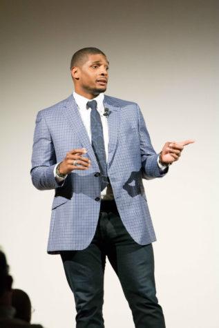 Former NFL player Michael Sam speaks at NKU LGBTQ History Month event