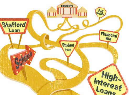 Student loans illustration