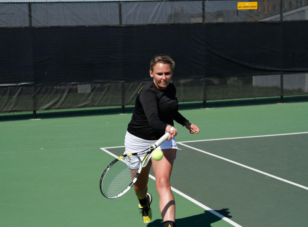 Tennis teams finish fourth at GLVC tourney