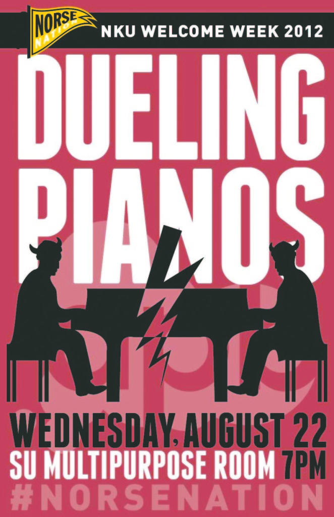 Two men duel it out on pianos tonight