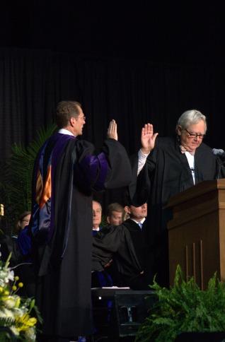 Mearns sworn in as NKU president
