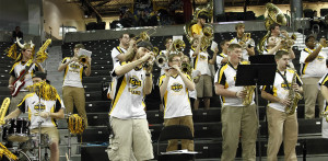 School spirit is strong among members at Norse basketball games