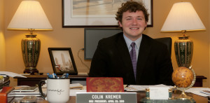 Student took over for president's seat for a day