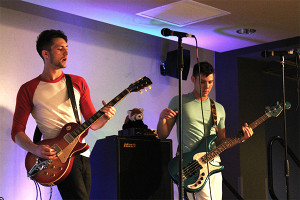 Photo by Kevin Schultz Local band PUBLIC also took the stage to perform for students Thursday night.