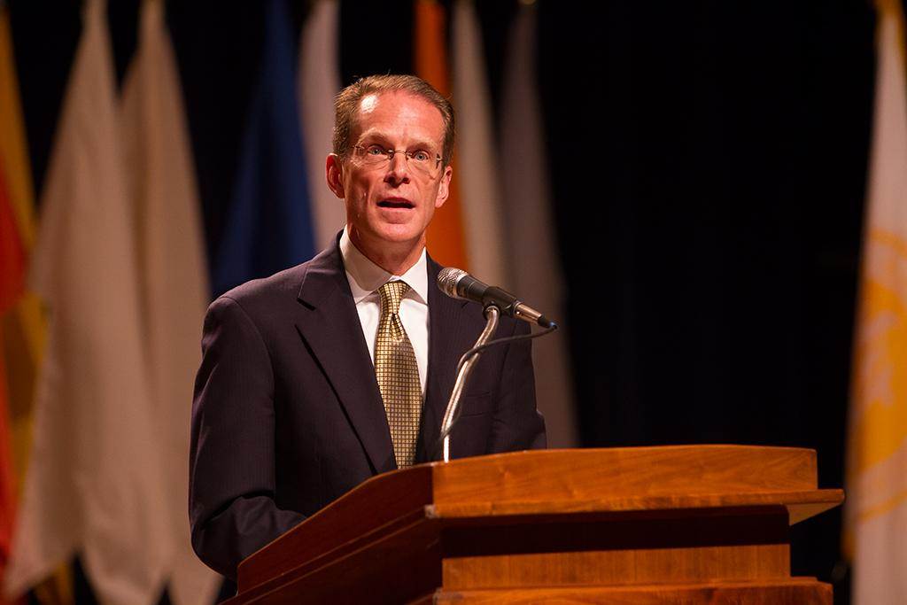 President+Mearns+Fall+2013+Convocation+was+held+in+Greaves+Concert+Hall+on+Friday%2C+August+16%2C+2013+to+talk+about+the+future+of+Northern+Kentucky+University+and+commemorate+the+past+years+success.+NKU+President+Mearns+speaks+about+the+future+of+NKU+about+the+successful+rate+of+growth+the+university+has+archived+in+the+past+few+years.