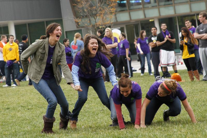 NKU+students+participated+at+Pumpkin+Bust+in+events+such+as+tug-of-war%2C+a+pie+eating+contest%2C+and+zombie+running.+NKU+Activities+Programming+Board+sponsored+the+event+on+the+Griffin+Hall+Oval+on+Tuesday%2C+October+29%2C+2013.