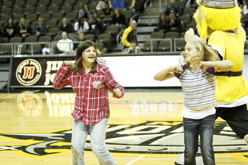 Northern+Kentucky+University+Athletics+hosted+Black+and+Gold+Madness+on+Thursday%2C+October+17%2C+2013+in+the+Bank+of+Kentucky+Center.+They+had+dancing%2C+cheering%2C+games+and+prizes+at+the+event.