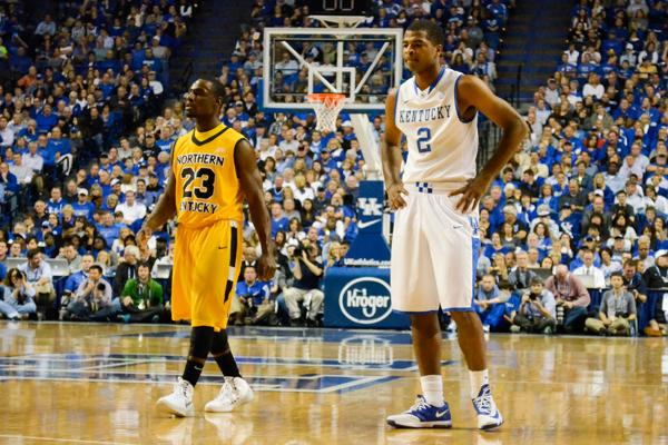 The+No.+1+ranked+Kentucky+Wildcats+hosted+the+Norse+on+Sunday+Nov.+10.+NKU+fell+to+UK%2C+93-63.