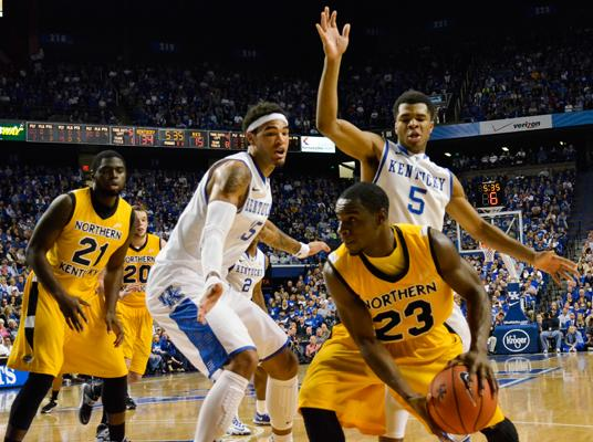 The No. 1 ranked Kentucky Wildcats hosted the Norse on Sunday Nov. 10. NKU fell to UK, 93-63.