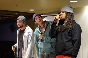 The Mayhem Poets all met at Rutger's University. They now travel all over bringing their rhymes and talent to others.