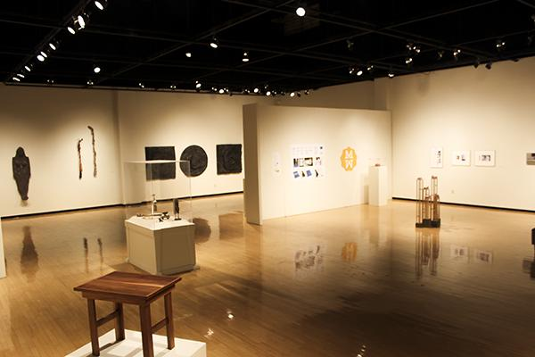 An overview of the main art gallery.