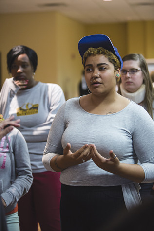 Morgan Bell was one of many students who voiced her concerns about NKU's relationship with the community.