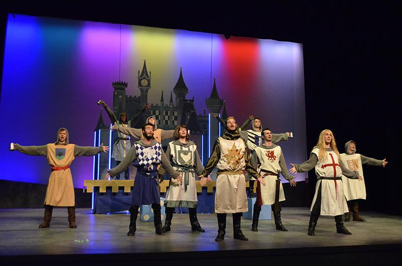 The cast of NKU's production of  Spamalot takes the stage.