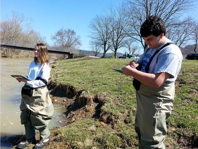 app being used to test water quality
