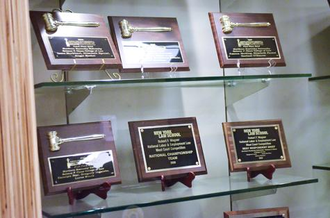 Awards that Chase Law has earned. Dean Standen hopes that the Lunsford Academy will bring more attention to Chase.