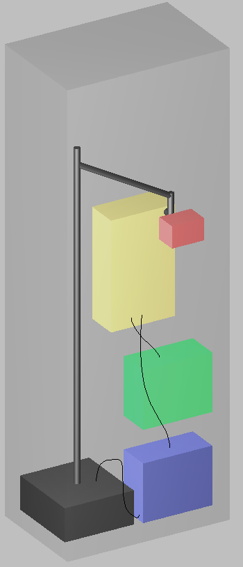 A computer animated drawing of Matthew Miles' machine.