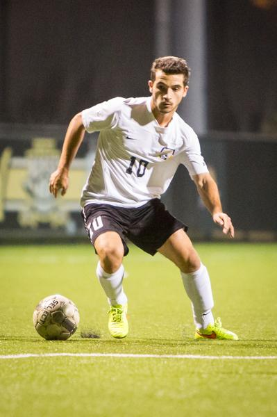 NKU midfielder Diego Martinez had a shot on goal Saturday in NKU's 1-0 loss to UIC.