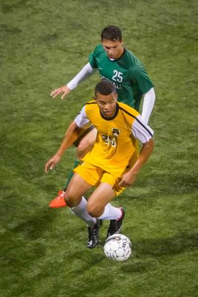 NKU soccer player Kobie Qualah had five shots Saturday in a goalless draw against Valparaiso.