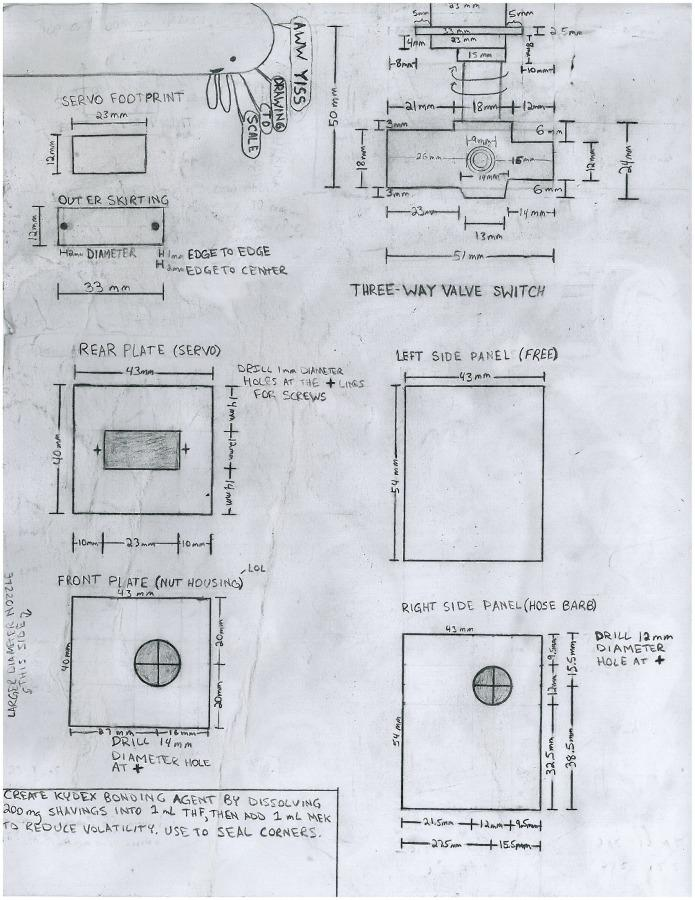 A copy of Miles' design plans for his new chemical