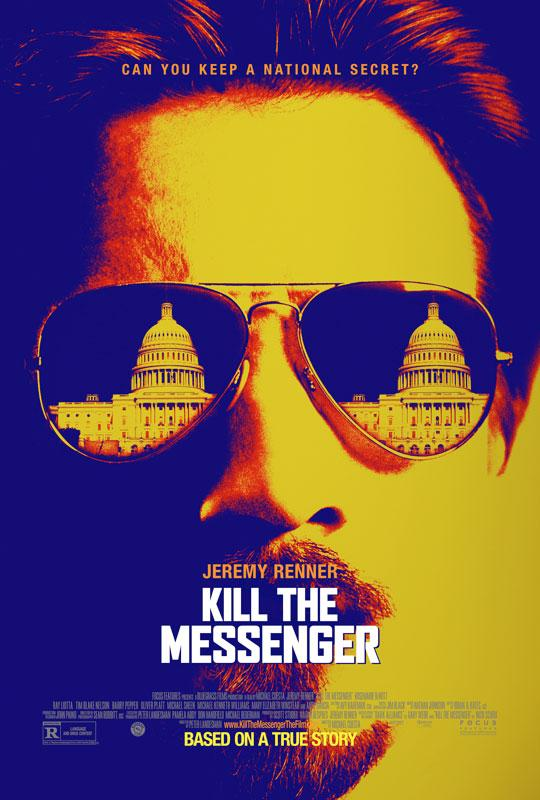 The movie poster for 'Kill the Messenger' starring Jeremy Renner.