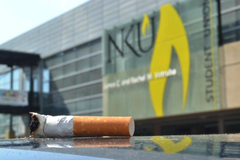While banned since January, smoking on campus still occurs. NKU's policy is being strengthened through programs to help smokers quit.