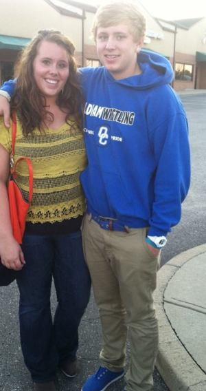 Brook and her brother, Ben, go to dinner after Brook's first week of college at NKU.