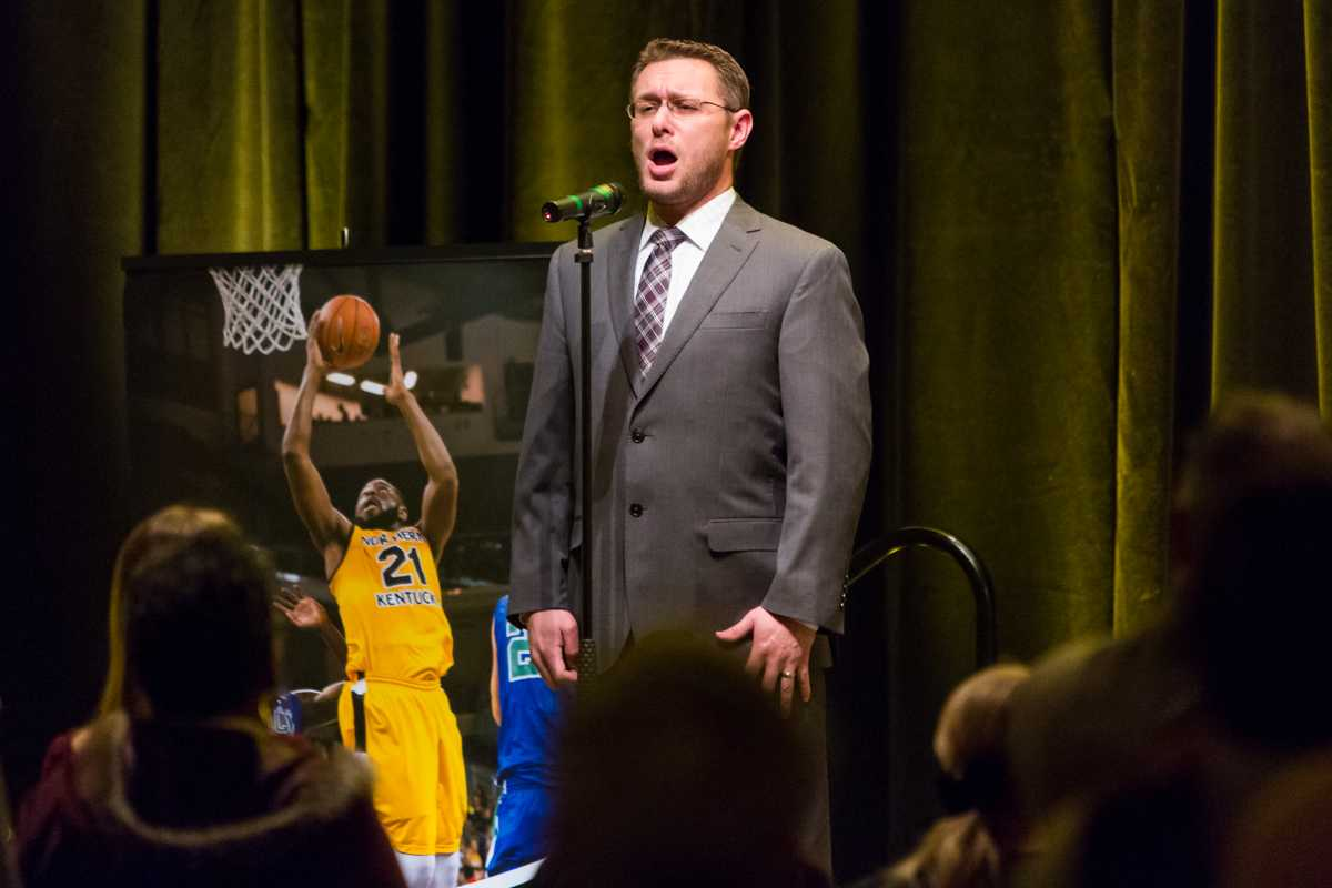 NKU%27s+Jason+Vest+sang+the+National+Anthem+before+President+Mearns%27+2015+Spring+Convocation.+President+Mearns+spoke+about+the+past+year+and+the+upcoming+year+in+the+Student+Union+Ballroom+on+Friday%2C+Jan.+9%2C+2015.
