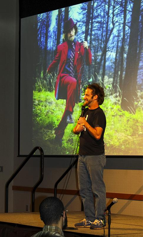 Josh Blue performs his stand up comedy act in SU Ballroom.
