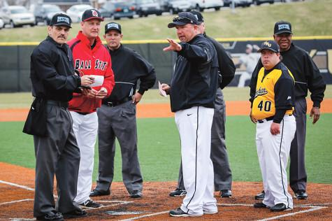 Baseball coach celebrates anniversary with NKU