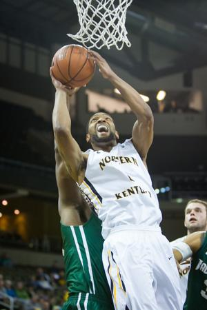 NKU guard Chad Jackson scored 15 points in NKU's 81-59 win over Jacksonville. NKU defeated Jacksonville 81-59 on Saturday, Jan. 24, 2015 at The Bank of Kentucky Center.