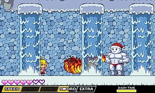'Dark Witch' features a variety of enemies, such as this fire-breathing snowman.