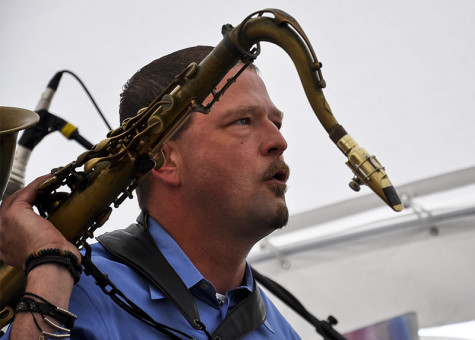 Hogg started playing saxophone after originally wanting to play drums.