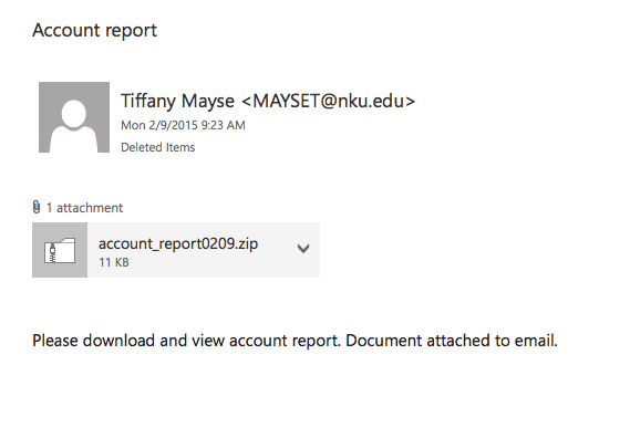 Tiffany Mayse's, among others', email accounts were used to send spam.  They themselves did not send the emails.