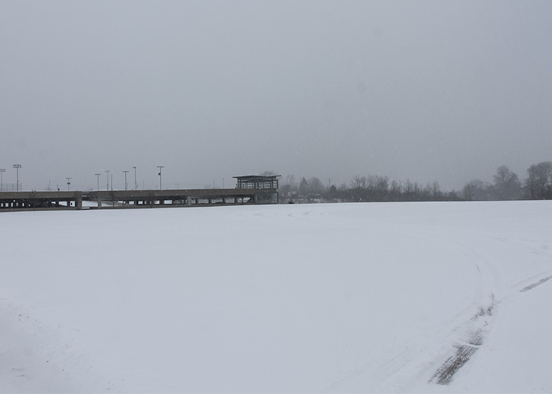 A+lot+sits+untouched+by+maintenance+crews+on+campus.++NKU+was+closed+Monday%2C+Feb.+16+due+to+inclement+weather.