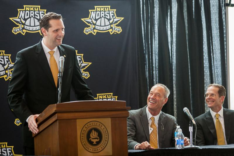 John Brannen is announced as NKU men's basketball head coach, April 8, 2015.