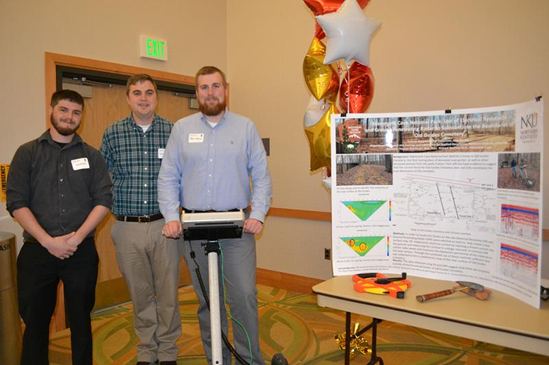 Morley, Kappesser, Bergman  (in that order) with their project and their ground penetrating radar (GPR) used to try and find potential graves in Mammoth National Park.