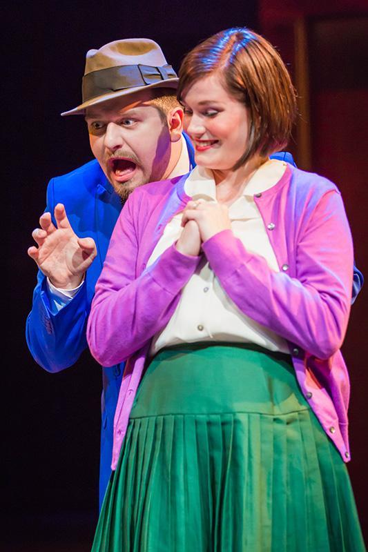 Connor Moulton and Victoria Hawley in 'Encore, Encore' The show will run until April 25.