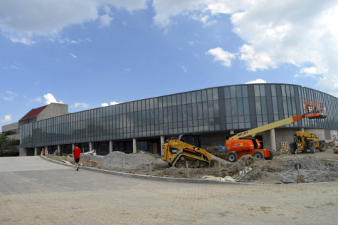The new Campus Rec Center will open in phases. Matt Hackett, director of campus recreation, says that the entire buildling should be open around Labor Day.