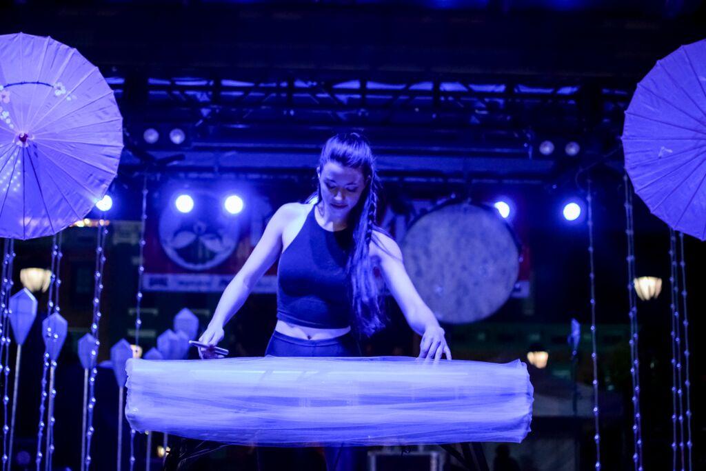 HANA took the stage Friday night in Washington Park. HANA was part of MidPoint Music Festival.