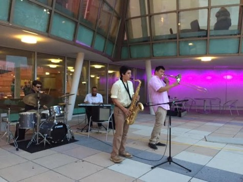 The jazz band livens up the crowd. Relay for Life took place on Friday.