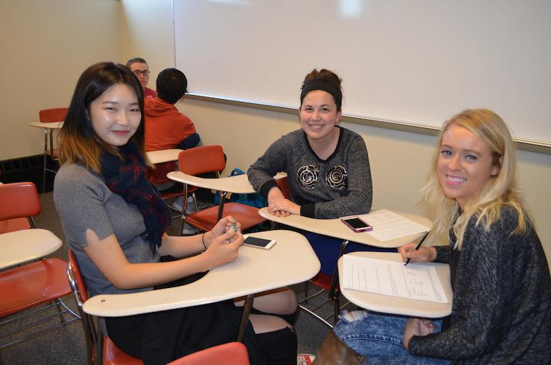 AEL students participate in a conversation partners session with another class at NKU. Now, Conversation Partners has gone beyond the classroom and students are paired with partners to meet on a weekly basis to work on their English-language skills.