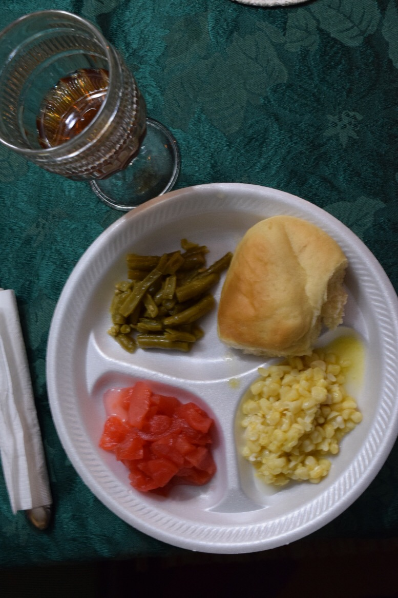 A typical vegetarian Thanksgiving consists of sides, such as green beans, corn, and rolls. As time goes by, vegetarians may branch out to alternatives to meat, such as Tofurky, like Ashley Gritton.