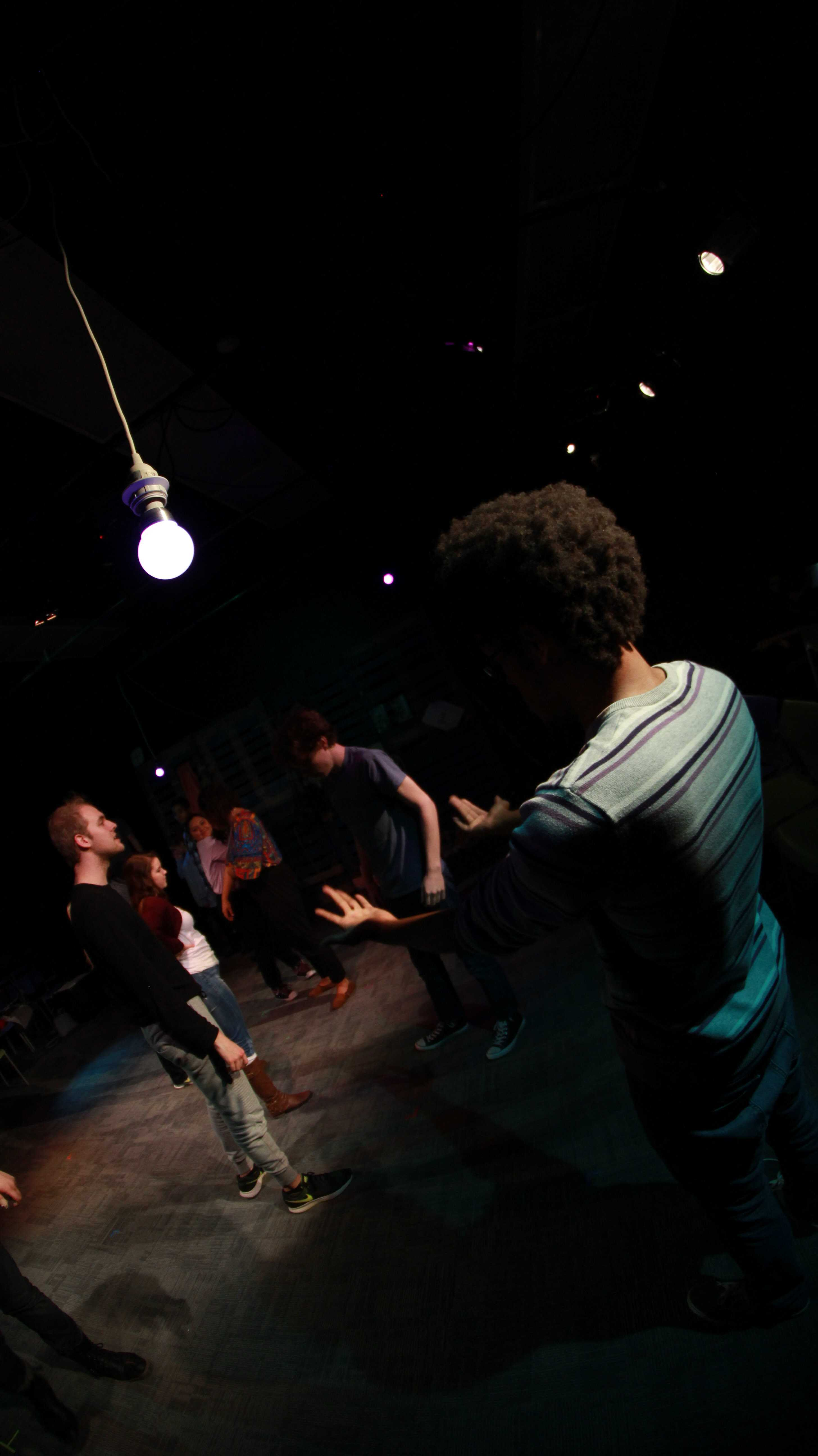 The+cast+of+upcoming+play%2C+Years+rehearsing+a+scene.+Years+opens+on+Feb.+22.
