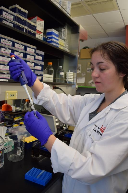 Kelsey Klinefelter is a biology major. Despite feeling as if STEM fields can be dominated by men, she finds power in female role models.