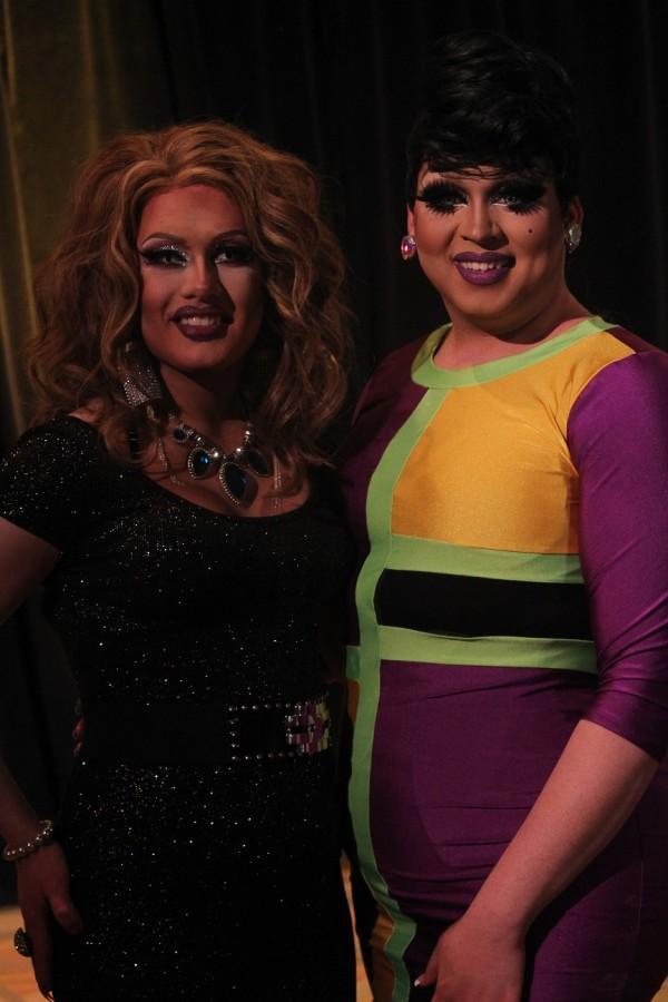 Tara Newone and Sarah Jessica Darker finish another successful NKU Drag Show.