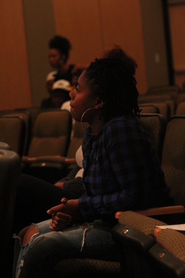 Students listen to words of wisdom given by Daryl Harris.
